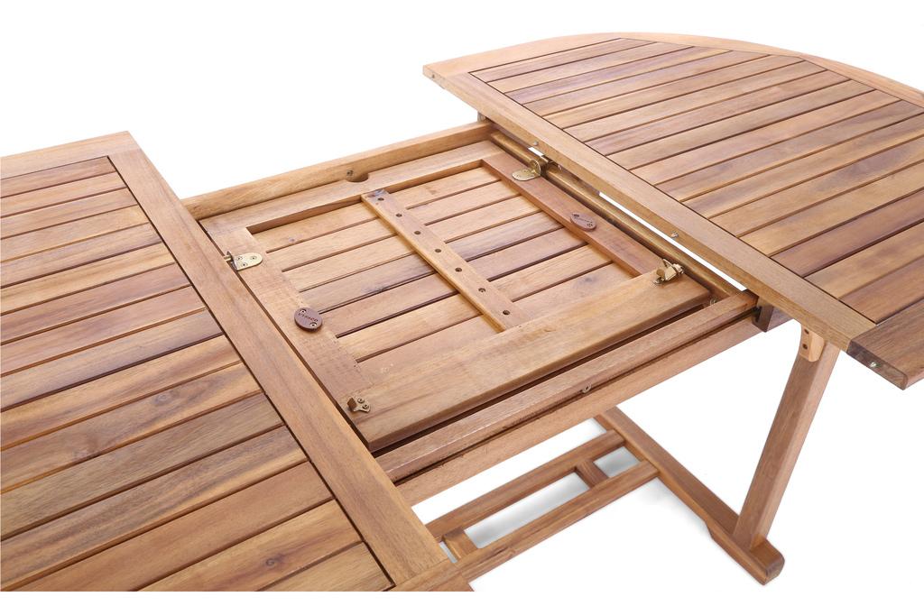 Meble Ogrodowe Drewniane Akacja Owal 6 Krzeseł